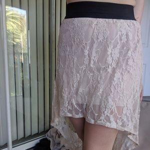 Brat Star Skirts - Lace high low skirt